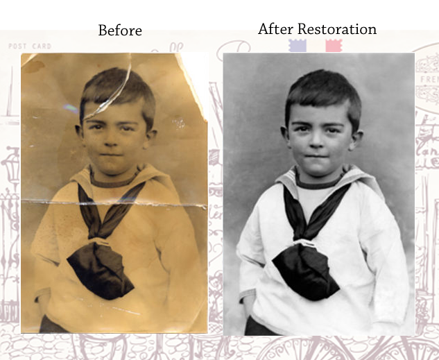 Westport photo retouching and restoration before