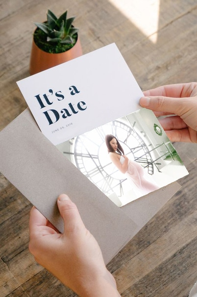 Custom Save The Date Photo Cards by SophterLight