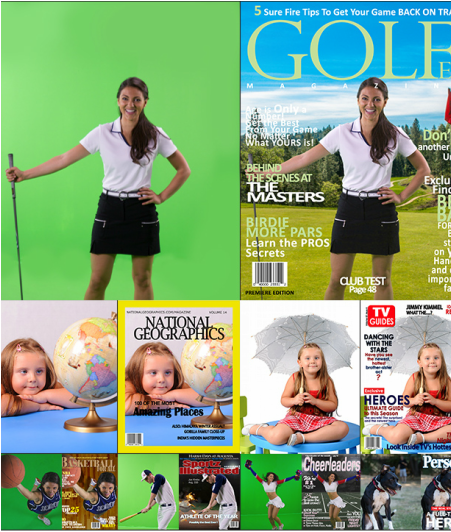 Connecticut Green screen photobooth magazine covers